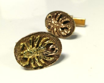 Vintage 14kt Gold Scorpion Cufflinks