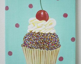 Cupcake and dots
