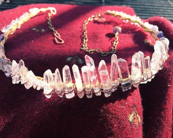 Quartz and Amethyst Crown