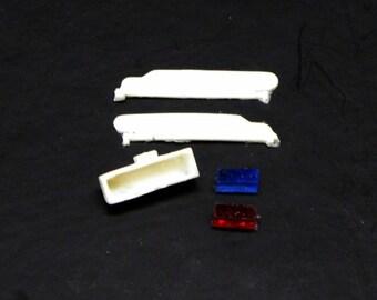 1:25 scale model resin toy police car firetruck sun visor strobe light