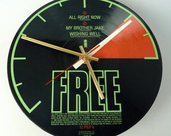 "Free - All Right Now 12"" Picture Disc Record Clock"