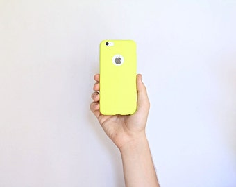 Apple iPhone 6 6S Ultra Thin Slim Minimalist Skin Case Yellow Kiwi