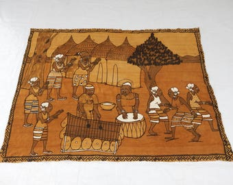 Vintag French Medieval Tapestry (285)