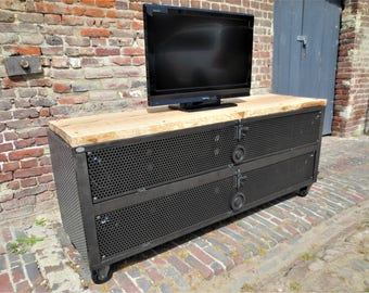 Tv TV stand industrial solid Ash