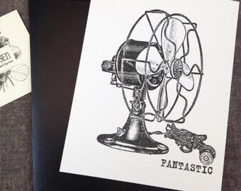 Fantastic vintage fan flat card