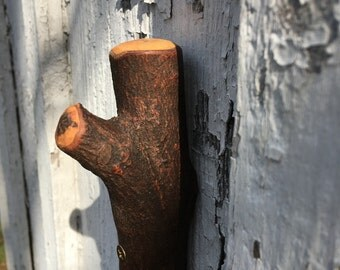 Eco Friendly , Reclaimed Tree Branch Wall Hook Maple