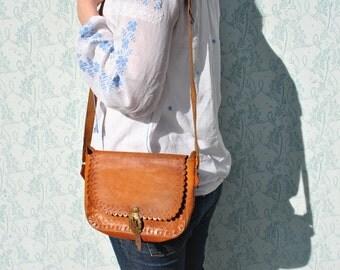 Leather bag women, tooled leather purse, vintage leather purse, vintage leather bag, leather tooled purse, tooled leather handbag