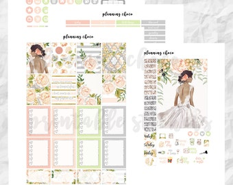 BRIDE printable planner stickers /EC vertical weekly kit / erin condren planner / pdf, jpg, cut files