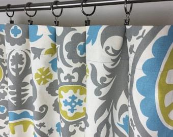 SALE! -  Window Treatments - Designer Drapes - Suzani Window Curtains - Curtain Panels - Window Curtain Panels - Suzani Curtains