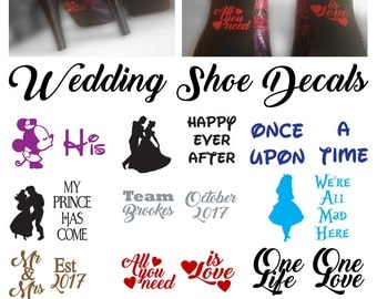 Wedding Shoe Decal, Sticker