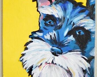 Custom Pet Portrait, Pop Art, Pet Painting, Dog, Cat, Acrylic Painting, Canvas