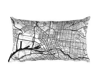 Melbourne Pillow, Melbourne Decor, Melbourne Throw Pillow, Melbourne Gift, Melbourne Map, Melbourne Art, Melbourne Australia, Throw, Cushion