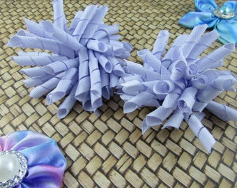 Korker Bow Hair Clip - Set of 2 - Purples