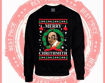 On Sale Today Merry Mike Tyson Ugly Christmas Sweater-Mike Tyson Shirt-Ho-Funny Shirt-Merry Christmas sweater-drake-ugly sweater party