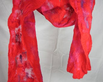 Felted silk and Merino wool scarf