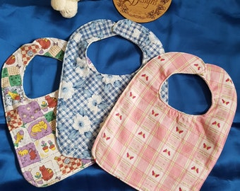 Girl bibs set of 3