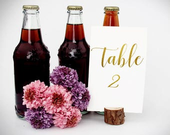 Wedding Gold Table Number Wedding Gold Table Number gold table number cards Table Number Signs table numbers for wedding