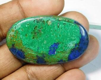 Rare. Natural Azurite Malachite cabochon, Azurite Malachite gemstone, Malachite Azurite loose gemstone. Malachite Azurite 88 Cts. #294N