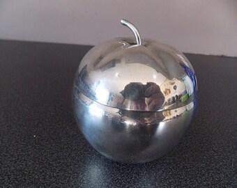 Silver plated British Apple sauce pot jar