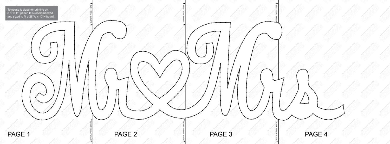 mr mrs string art template. Black Bedroom Furniture Sets. Home Design Ideas