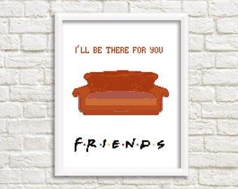 Friends cross stitch Pattern/friends pattern/friends show/friends quotes/friends gift/friends tv quote/friends fan gift#07-007