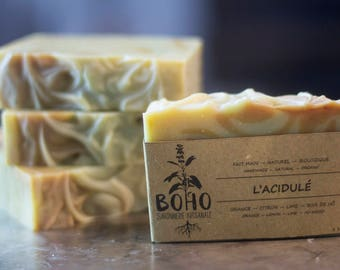 The candy / SOAP natural, organic, handmade, baby sensitive skin, pregnant woman, fruity, citrus, biodegradable, wave contest