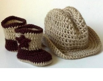 Cowboy Hat and Boots, Western Photo Prop, Cowgirl hat and boots, Cowboy Hat and Boots, Baby Boots and Hat, Cowgirl Set, Cowboy Set, Boot set