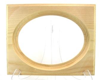 Unfinished Wood Pressed Flower 6 x 8 Framing Kit for Rosemåling or Tole Painting