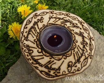 Sindarin candle holder ~ LOTR ~.
