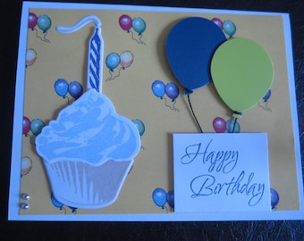 Happy Birthday - Balloons/Cup Cake