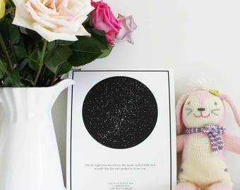 Custom Star Map print; Constellation and Stars Wall Art; Personalized Nursery Wall Art; Personalized Wedding gift; anniversary gift