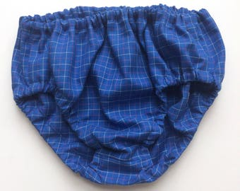 Royal Blue Baby Bloomers Diaper Cover