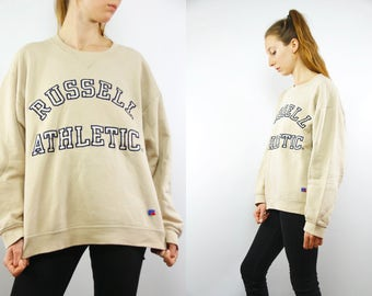 Vintage Sweatshirt  Vintage Hoodie Oversize Sweatshirt Hipster Sweatshirt Streetstyle Russel Athletics 90 Sweatshirt 90s Sweatshirt