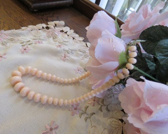 Vintage peach necklace