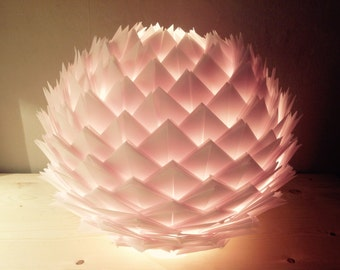 Lamp table/night light in transparent tracing paper