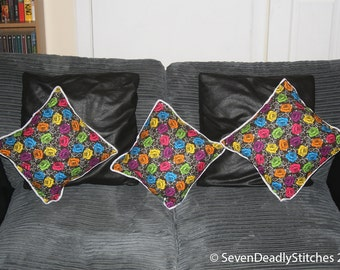 Gothic Rose and Thorn throw cushions 20cm x 20cm