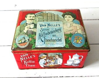 Awesome old Dutch tin 'Van Nelle's coffee and tea'