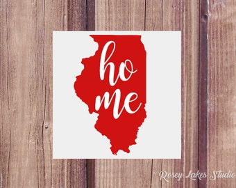 Illinois Decal, Illinois State Decal, Illinois Sticker, State Decals, Car Decal, Window Decal, Illinois Car Decal, Illinois State Decal