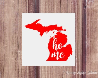 Michigan Home State Decal,decal,laptop,decals,home,state,home sweet home,home state,state,states,united states