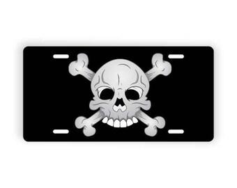 Cartoon Skull Novelty License Plate