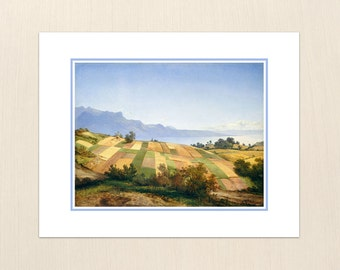 Swiss Landscape by Alexandre Calame - Art Paintings from the 1800s - Archival Giclee Art Painting Prints