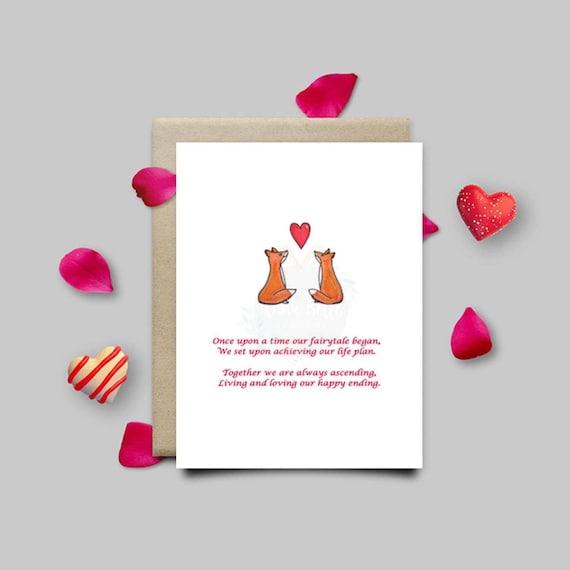 anniversary love card anniversary card valentines card
