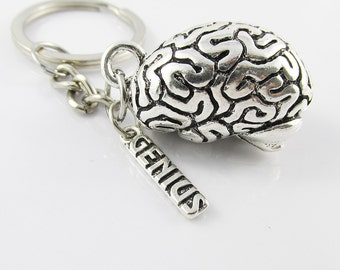 Genius 3D Super Brain Charm Keychain Keyring 95mm