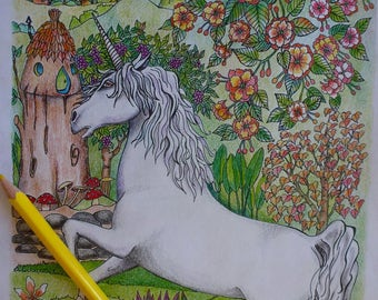 Unicorn in the fairy's garden
