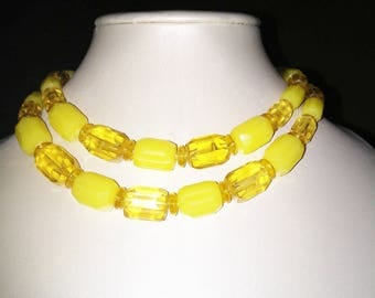 Western Germany Lemon Yellow Necklace