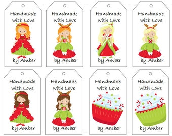 Holiday Princess Gift Tags- PDF File