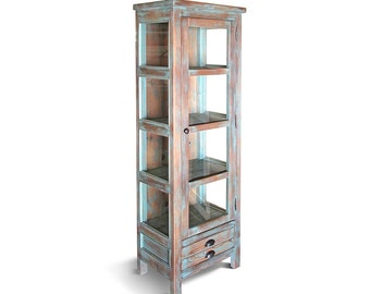 Bookcase, Display Cabinet, Farmhouse, Bookcase, Rustic, Handmade