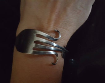 Hand made ladies  fork bangle