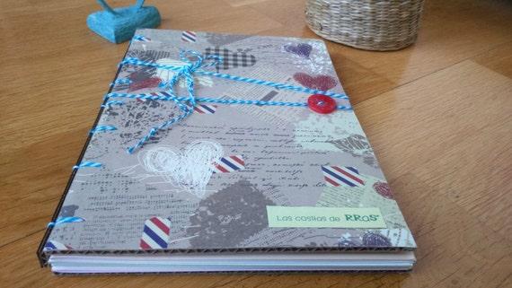 Notebook, Notebook, blog of notes in white-model AUTUMN. (15 cm x 21 cm). Handmade.
