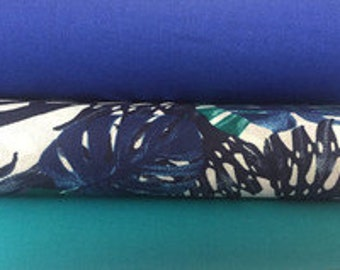 Fabric, fabric set in turquoise/blue article 7909